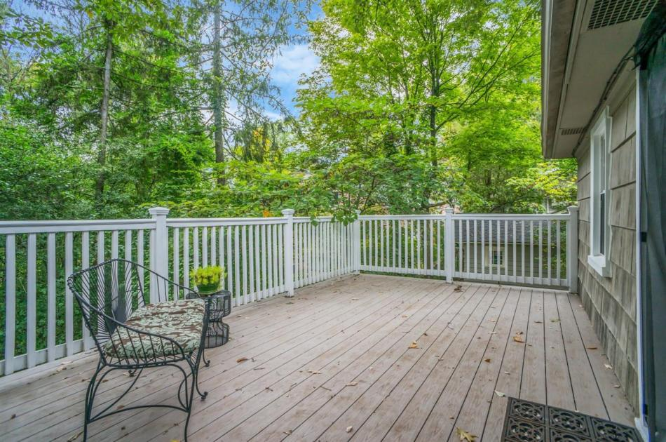 Upstairs deck on Arbor Hills home in Ann Arbor